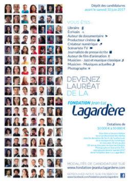 LANCEMENT DE LA 28ème CAMPAGNE D'APPEL À CANDIDATURES POUR LES BOURSES 2017 DE LA FONDATION JEAN-LUC LAGARDERE