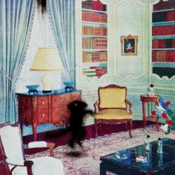 Salon-bibliothèque, série Mes Intérieurs