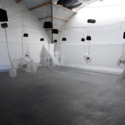 Interactive odour and sound installation